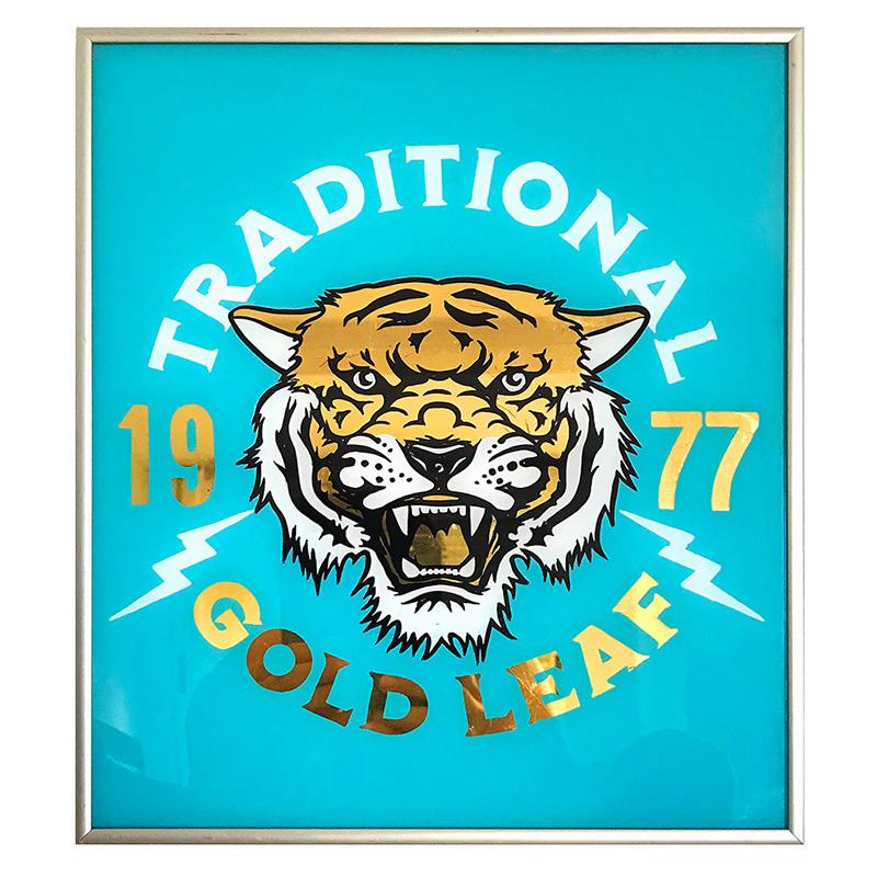 Rotulado con oro tigre