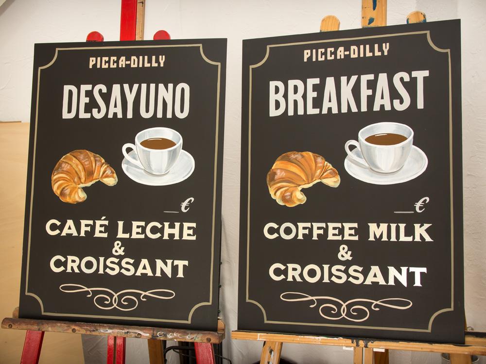 pizarra-decorada desayunos-breakfast bar restaurante
